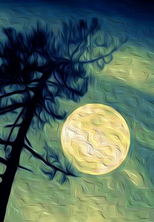 Full Moon & the Lonely Tree - Graphic Eleven