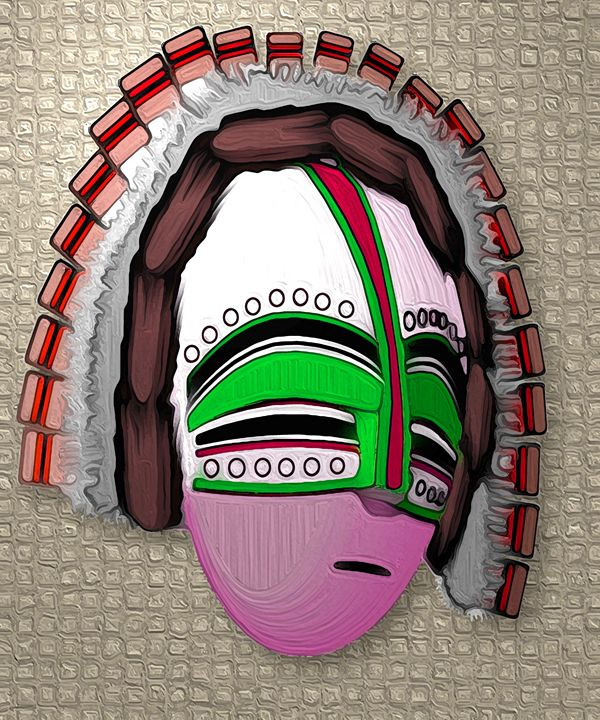 African Mask - 2 - Graphic Eleven