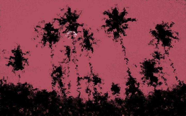 Cubic Tropical Landscape - Graphic Eleven