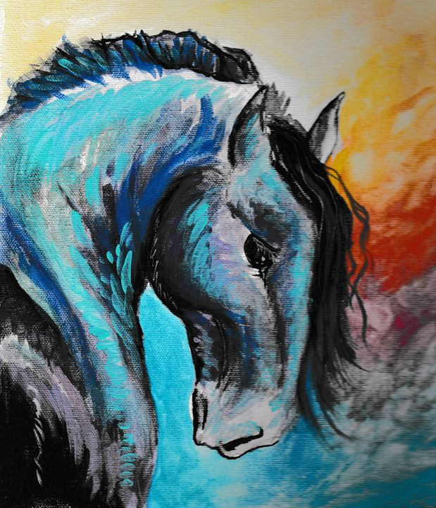 War Horse Acrylic Painting - Graphic Brewery