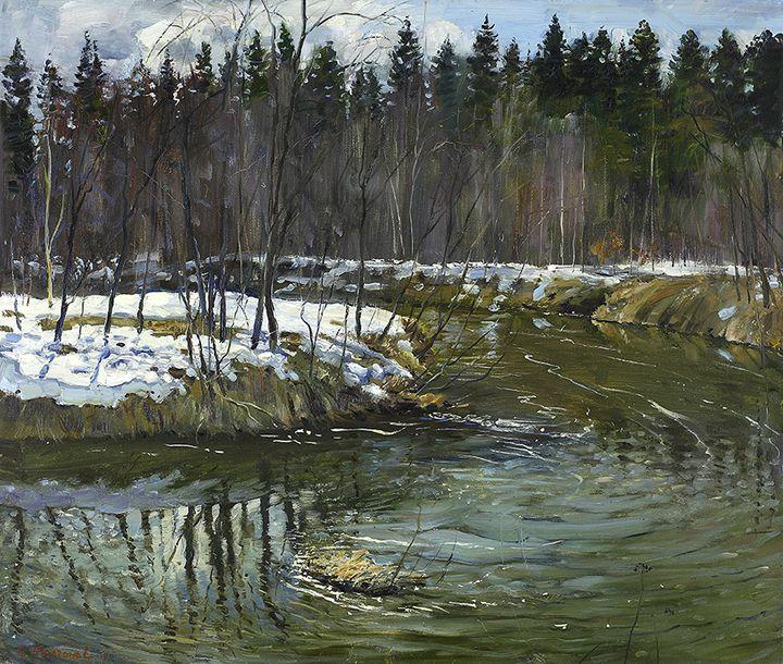 Big Water on River Mese - MolchanovArt