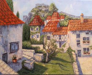 Toits de St CIRQ-LAPOPIE - Nadya RIGAILL