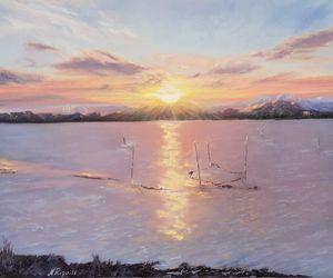 Coucher de soleil Etang de LEUCATE - Nadya RIGAILL