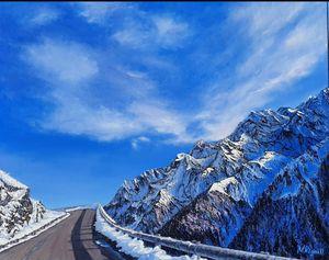 Route de montagne dans les Pyrénées