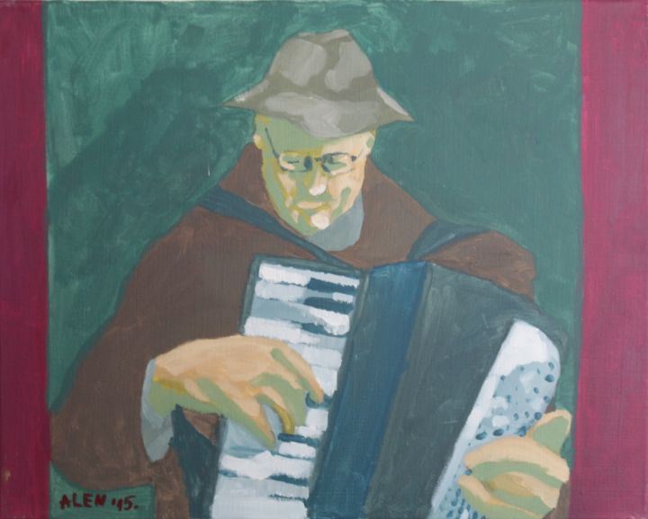 The Accordion Player II - Alens Gallery