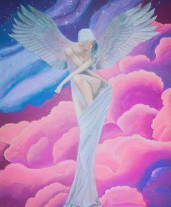 Angel original acrilic painting