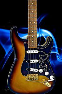 Three-Tone Sunburst SRV Stratocaster - Larry Nader Photography & Art