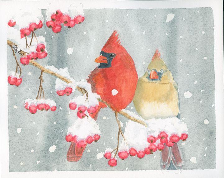 Cardinals - Patagonia Watercolors