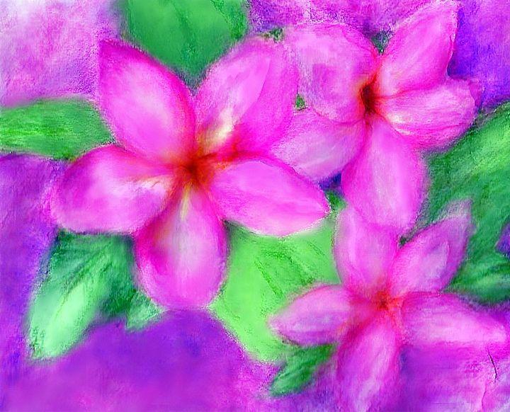 Pink Plumerias - Maleah-Quyen