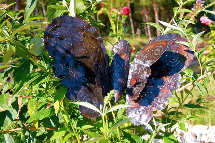 Hand made Beautiful Rustic butterfly - Amohjay Creations