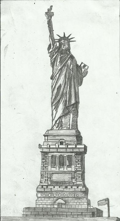 The Statue of Liberty, New York, USA - Jakub Farmas Artwork