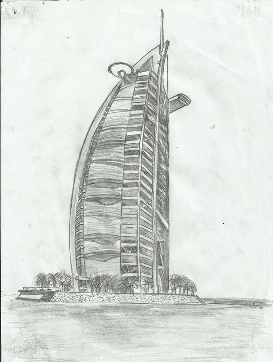 Burj Al Arab, Dubai, UNE - Jakub Farmas Artwork