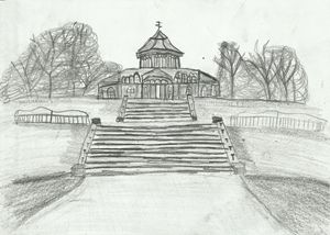 Mesnes Park, Wigan,UK Pencil Drawing - Jakub Farmas Artwork