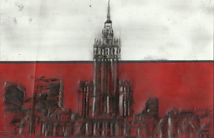 Palac Kultury,Warsaw, Poland - Jakub Farmas Artwork