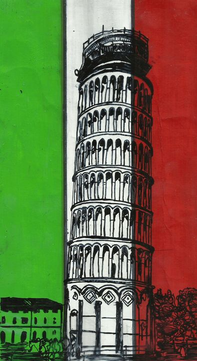 Leaning Tower of Pisa, Italy, Pisa - Jakub Farmas Artwork