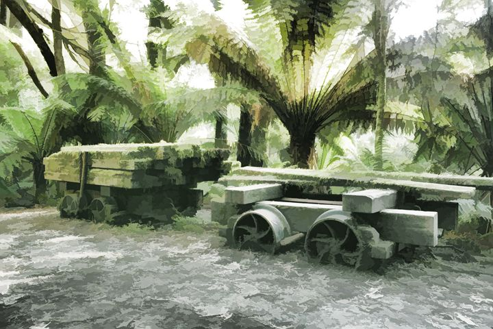 Old Sawmill Cart - Maxwell Jordan