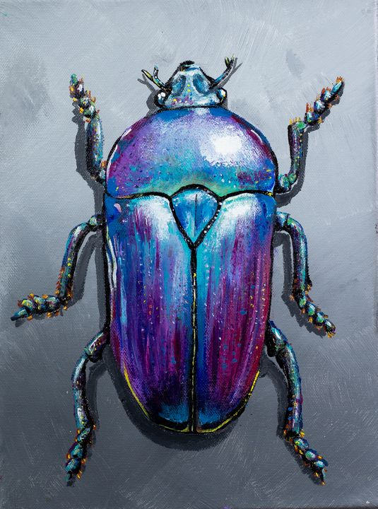 Metallic Flower Beetle - Copper Lantern