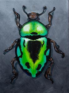 Green Metallic Beetle