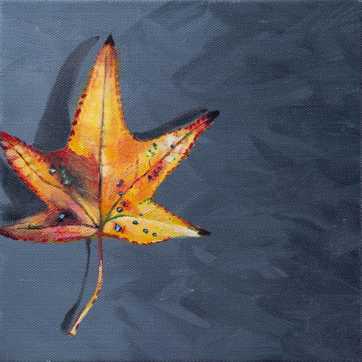 Fall Leaf - Copper Lantern