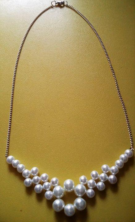 Pearl bead necklace - Sailaja