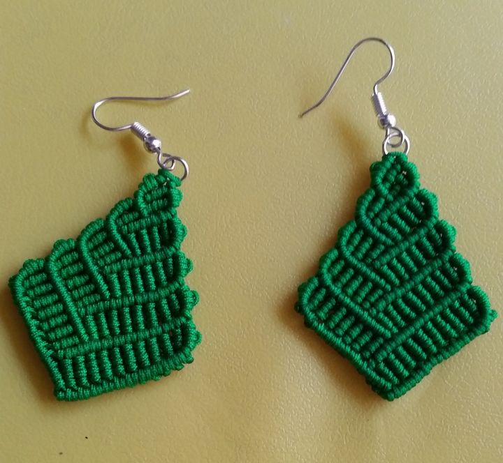 Macramé earrings - Sailaja