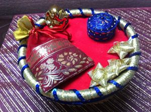 Ring Platter with Candies & Ganesh