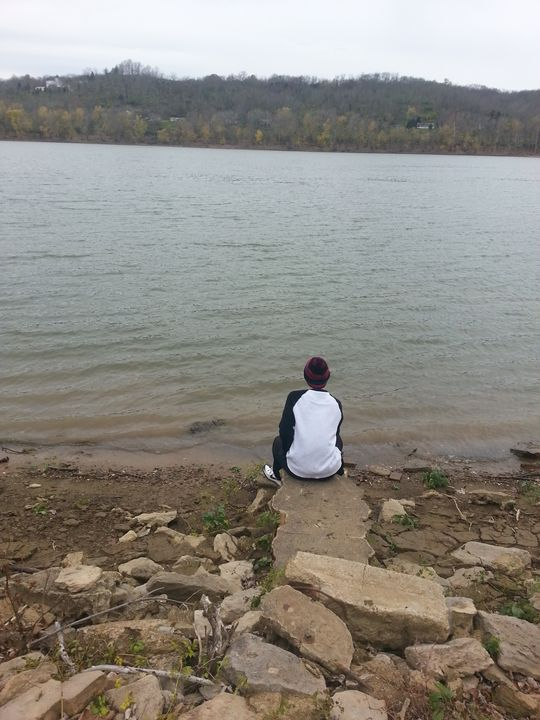 Ohio River's view from a rock - Devon J Cole