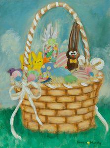 Easter Bunny Art - Yellow Dot Artist