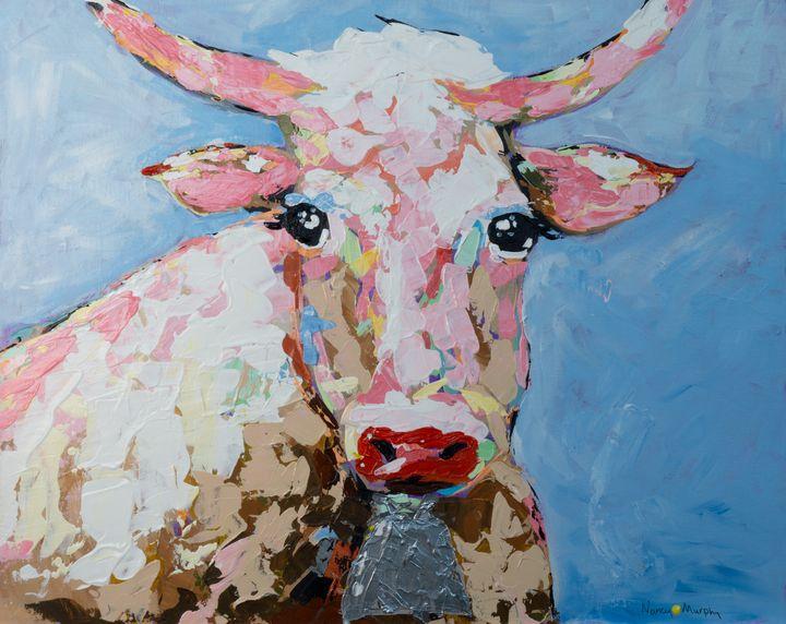 Miss Texas, The Pink Cow - Yellow Dot Artist