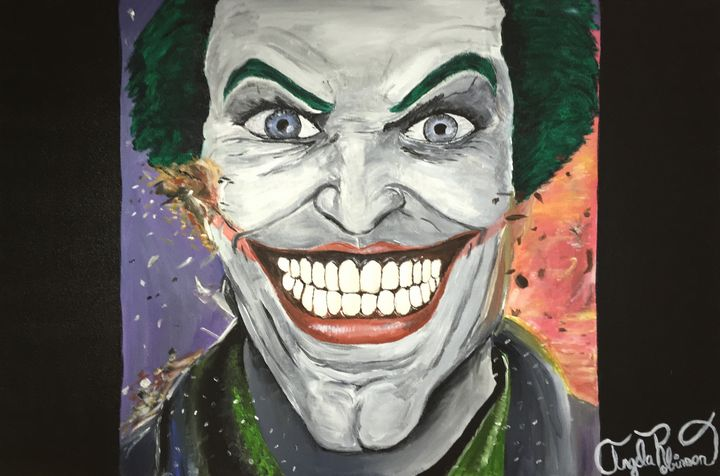 Joker Painting - Paintings by Angela Robinson