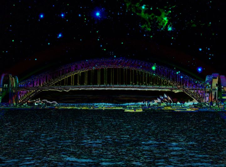 Psychedelic Sydney - Manic StreetArt design