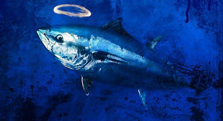 sacred blue tuna - Manic StreetArt design