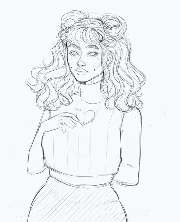 Queen of Hearts Sketch - R.A.RAMBONES