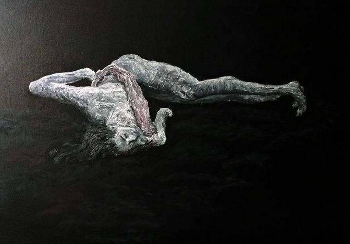 The Butoh Dancer - S. S. Dukhnov - More black please