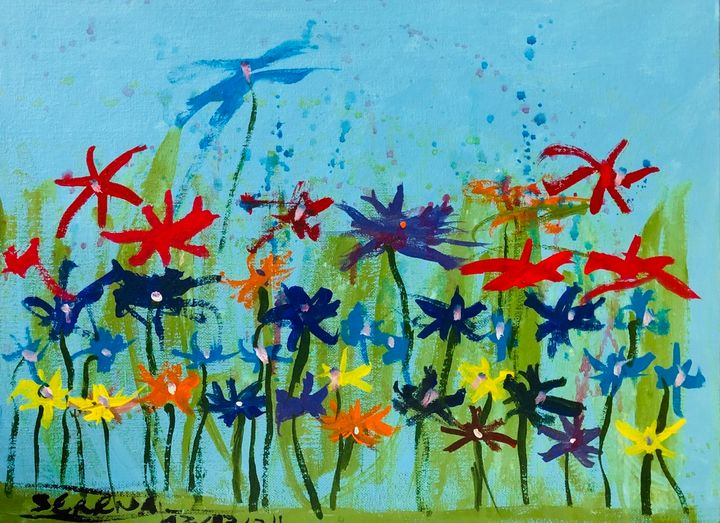 Flower Valley. - S&S ART GALLERY