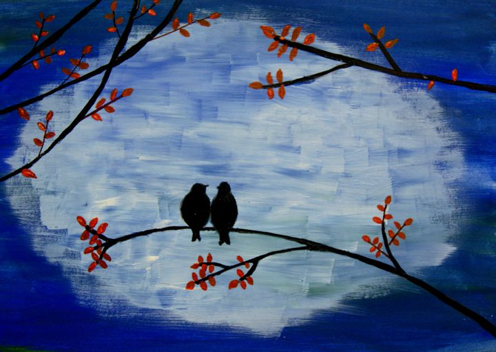 Love Birds Karthick S Gallery Paintings Prints Animals Birds Fish Birds Sparrows Artpal