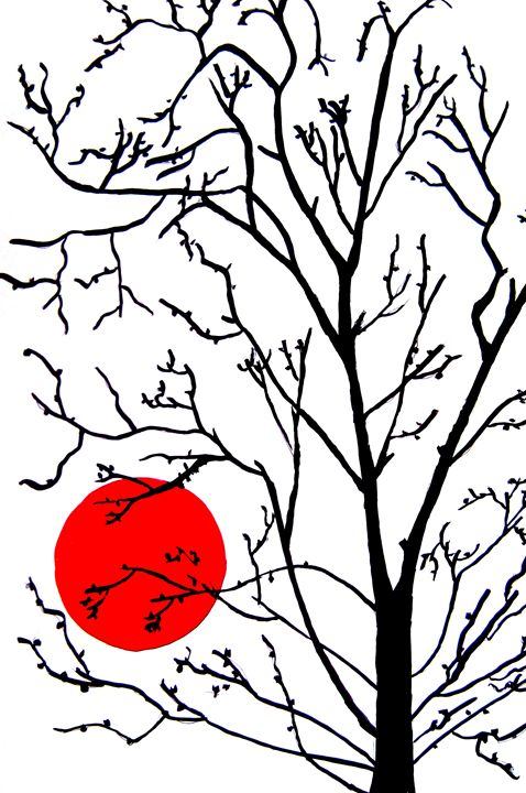 tree and moon - Karthick's Gallery
