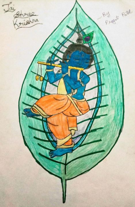 Jai Shree Krishna - Prags Artwork