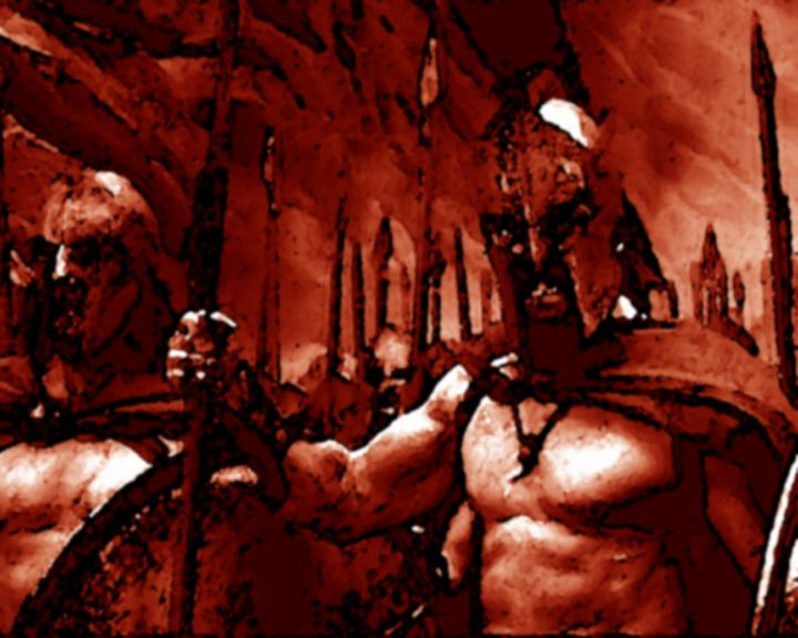 Spartans In Fire - Brut Art