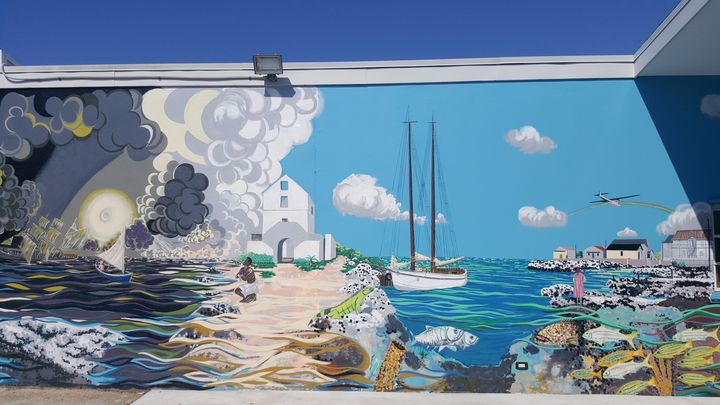 Message in the mural (1880-1945) - Gordon Solomon Gallery