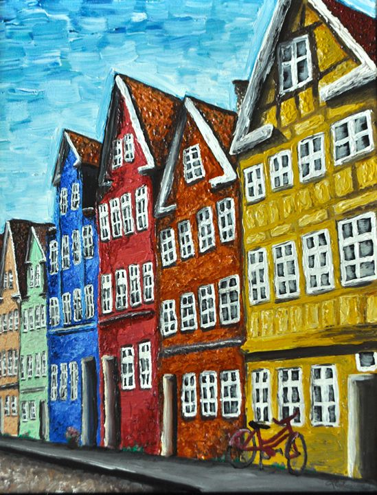Streets of Copenhagen - Leslie Emmerson Artwork
