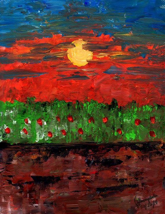 Sunset in a Field - Schire