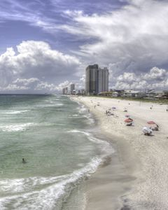 Florida Gulf Coast Beaches HDR Photo