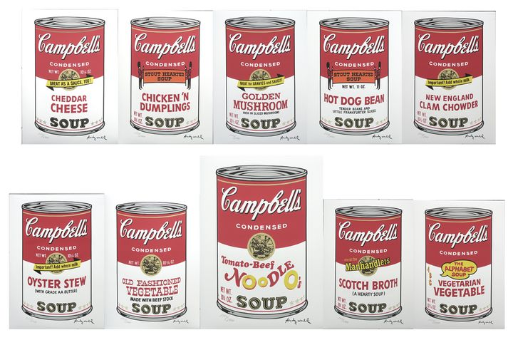 Andy Warhol Campbell's Soup II set - Warhol Gallery