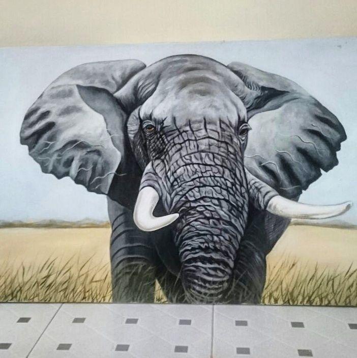 African Elephant - NirvanaArtGallery