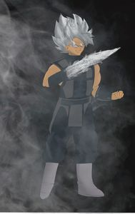 Goku Black x Smoke crossover - Teddy's Art