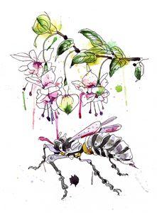 A Flower & Mechanical Wasp