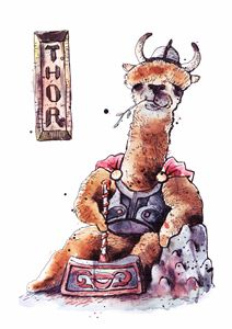 Mighty Llama Thor - Mixing Watercolors