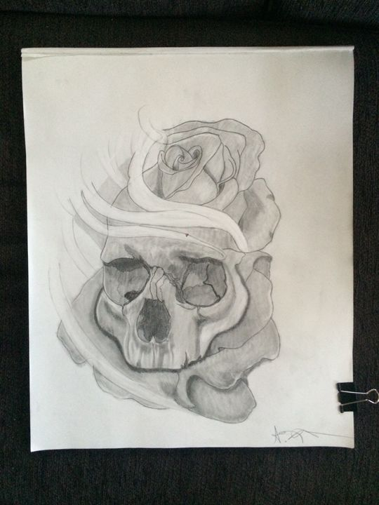 Skull with rose - Showouts Art