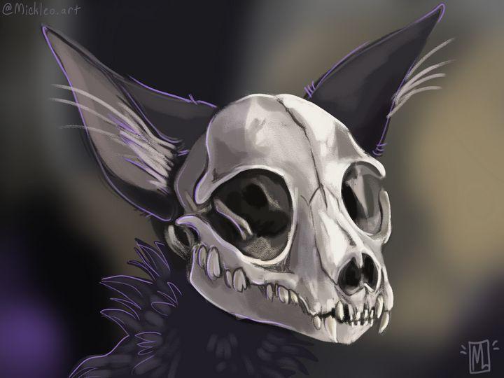 Cat Skull - mickleo